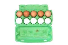 Huevos del pollo en cartón Imagen de archivo