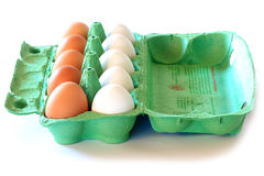 Huevos del pollo en cartón Foto de archivo