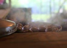 Huevos del té cocinados en la cocina Foto de archivo libre de regalías