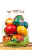 Huevos del tarro de Pascua imagenes de archivo