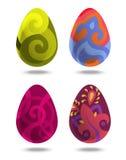 Huevos del volumen de Pascua en el fondo blanco Foto de archivo libre de regalías
