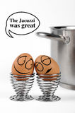 Huevos divertidos Foto de archivo libre de regalías