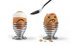 Huevos divertidos Imagen de archivo libre de regalías