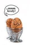 Huevos divertidos Fotos de archivo libres de regalías
