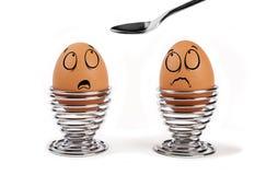 Huevos divertidos Fotos de archivo