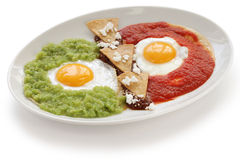 Huevos divorciados, mexican breakfast Royalty Free Stock Photo