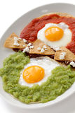 Huevos divorciados, mexican breakfast Stock Photography