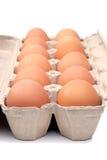 Huevos docena Foto de archivo libre de regalías
