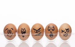 Huevos emocionales de la expresión Fotos de archivo libres de regalías