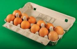 Huevos en bandeja Imágenes de archivo libres de regalías