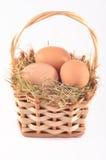Huevos en bascket Foto de archivo libre de regalías