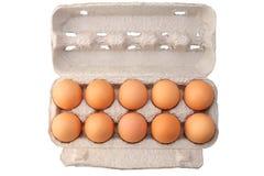Huevos en caso protector Foto de archivo