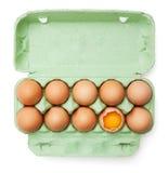 Huevos en el fondo blanco Foto de archivo
