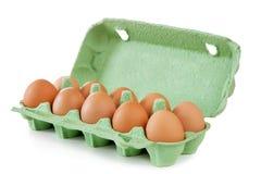 Huevos en el fondo blanco Imagen de archivo libre de regalías