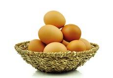 Huevos en el fondo blanco Fotos de archivo libres de regalías