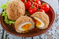 Huevos en escocés Foto de archivo