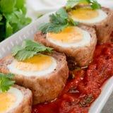 Huevos en escocés Foto de archivo libre de regalías