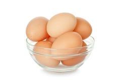 Huevos en tazón de fuente Fotografía de archivo libre de regalías