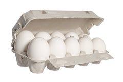 Huevos en un conjunto Imágenes de archivo libres de regalías