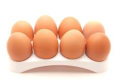 Huevos en una ayuda Fotografía de archivo