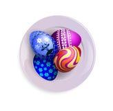 Huevos en una placa Foto de archivo libre de regalías