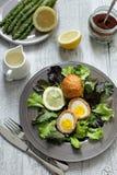 Huevos escoceses Imagen de archivo libre de regalías