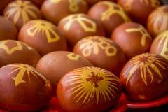 Huevos felices adornados del éster imagenes de archivo