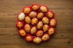 Huevos felices adornados del éster fotografía de archivo libre de regalías