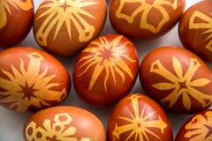 Huevos felices adornados del éster fotografía de archivo