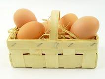 Huevos frescos de la granja Imagenes de archivo