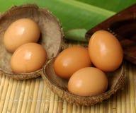 Huevos frescos de la granja Imagen de archivo libre de regalías