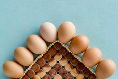 Huevos frescos de la granja Imágenes de archivo libres de regalías
