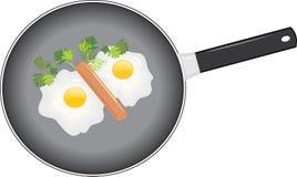 Huevos fritos Imagenes de archivo