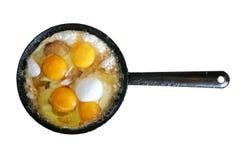 Huevos fritos Imagen de archivo libre de regalías