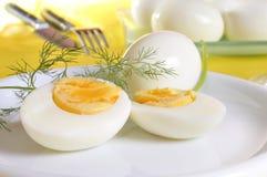 Huevos hervidos Imágenes de archivo libres de regalías