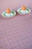 Huevos hervidos para el desayuno fotografía de archivo