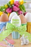 Huevos hervidos para pascua Imagen de archivo libre de regalías