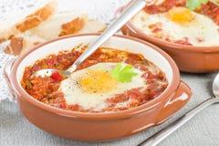 Huevos a la Flamenca (Flamenco Eggs) Stock Photography