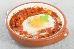 Huevos a la Flamenca (Flamenco Eggs) Stock Photo