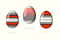 Huevos ligeros en el fondo blanco Fotografía de archivo libre de regalías