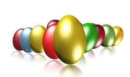 Huevos metálicos ilustración del vector
