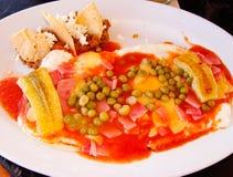 Huevos Motulenos Plate Stock Images