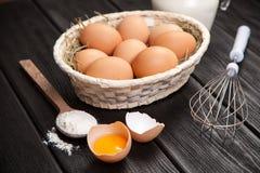 Huevos orgánicos frescos Foto de archivo