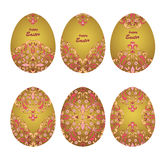 Huevos ornamentales florales Fotos de archivo