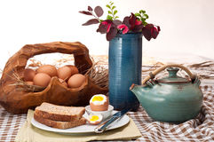 Huevos para el desayuno Fotos de archivo libres de regalías