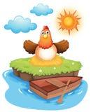 Huevos para incubar de un pollo en una isla libre illustration