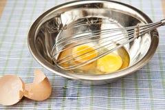 Huevos para la tortilla de huevos Imagen de archivo libre de regalías