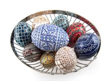 Huevos pintados tradicionales Imagen de archivo
