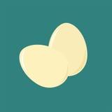 Huevos planos del icono Imagen de archivo libre de regalías