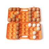 2017 huevos puestos del pollo en envase Fotos de archivo